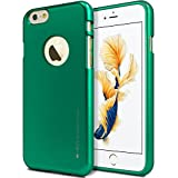 iPhone 6S / 6 Case, [Ultra Slim Fit] Goospery i-Jelly Case [Metallic Finish] Premium TPU Case Cover [Anti-Yellowing / Discoloring Finish] for Apple iPhone 6S / 6 - Metallic Green