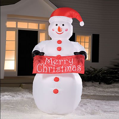 8' Airblown Inflatable Snowman Lighted Christmas Yard Art Decoration