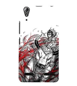 Vizagbeats Lord Shiva Back Case Cover for Lenovo A6000
