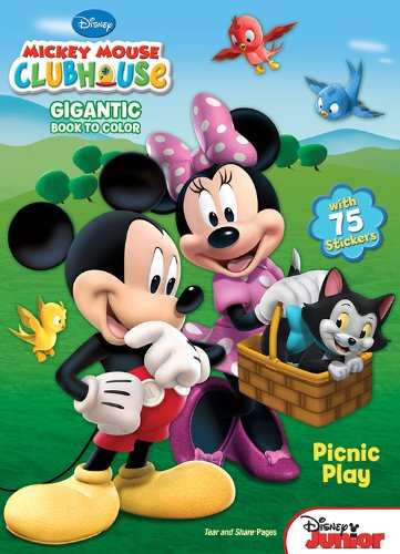 Mickey Mouse Clubhouse: Picnic Play: Gigantic Book to Color with Stickers - 1