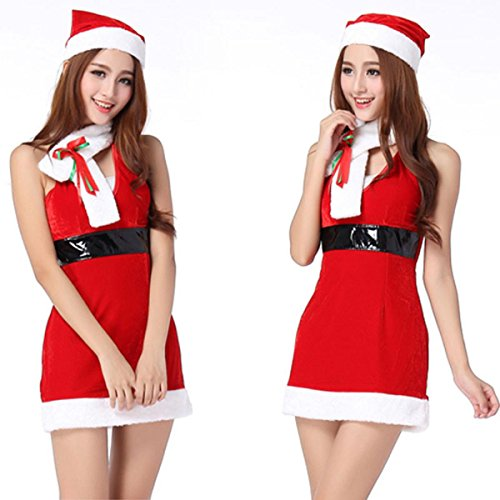 WenMei Women's Sexy scarf Costume Christmas Girl Cosplay Halloween Fancy Dress