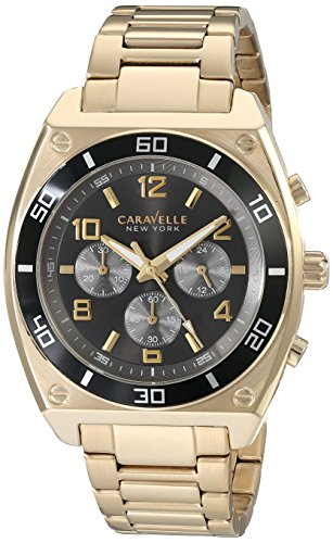 Caravelle New York Men's 45A111 Analog Display Japanese Quartz Gold Watch