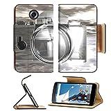 MSD Premium Motorola Google Nexus 6 Flip Pu Leather Wallet Case IMAGE ID: 8117397 digital visualization of a camera
