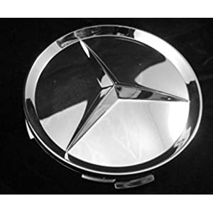 Mercedes-Benz Four Chrome Wheel Center Cap Set