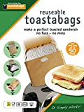 """Toastabags Reusable Non-Stick Sandwich/Snack """"In Toaster"""" Grilling Bags, Pack of 3"""