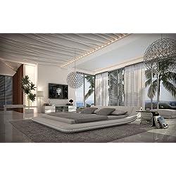 Designerbett Custo 160 x 200 cm Weiß modernes Design