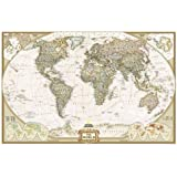 "National Geographic ""Executive World"" Huge Wall Map (185 x 122 cm) ~ Paper version"