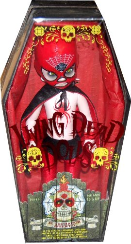 цена на Living Dead Dolls Series20 Days Of The Dead El Luchador Muerto Variant