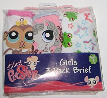 Littlest Pet Shop Girls' Underwear (3-pack)