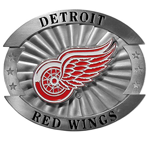 NHL Detroit Red Wings Oversized Belt Buckle, X-Large