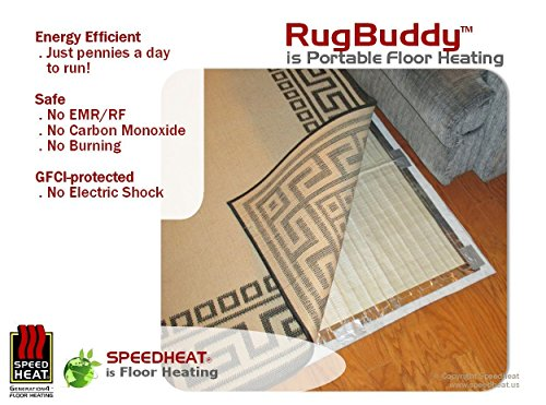 RugbuddyTM 165w Under Rug Space Heater, 3' X 5' (Floor Heater Pad compare prices)
