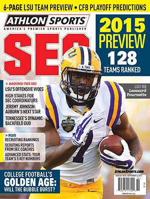 Athlon Sports 2015 College Football Southeastern (SEC) Preview Magazine- Louisiana State Tigers (LSU) Cover