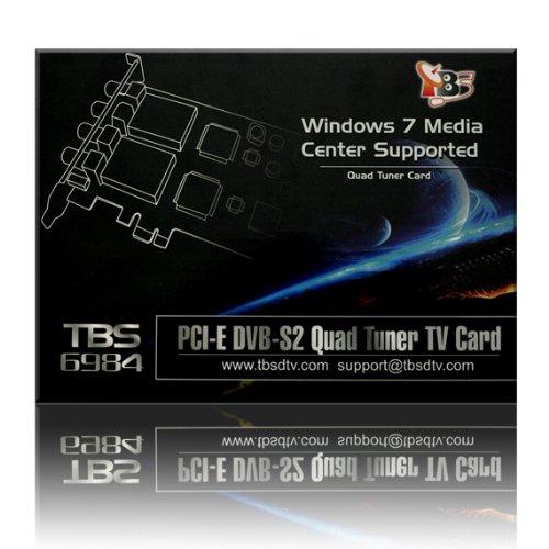 TBS PCI-E DVB-S2 Quad Tuner TV Card High Definition Digital Satellite Tuner PCI Express Card HD (DVB-S2/DVB-S) Receiver - TBS6984