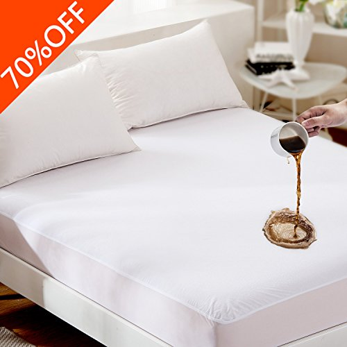 For Sale! Full (8-21 Deep Pocket) Fitted Mattress Protector - Combed Cotton Terry - Premium 100% W...