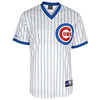 Majestic Mens Chicago Cubs Replica Ron Santo Cooperstown Home Jersey by Wrigleyville Sports