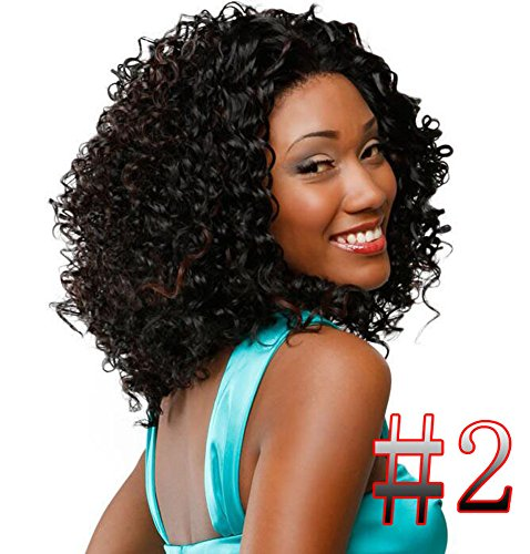 XMY Lady Women donne Heat Short Sexy Black Curly Wavy Cosplay Party Full Hair Capelli Wig SW020
