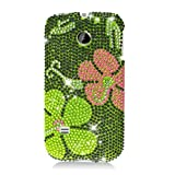 Huawei M865 Ascend 2 Prism Green Daisy Diamond Case