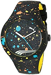 PUMA Unisex PU103211020 Form XL Paint-Splattered Watch