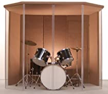 "Hot Sale Drum Booth - Drum Enclosure - Drum Shield ""Silencer"" Studio 6 Mocha with Door"