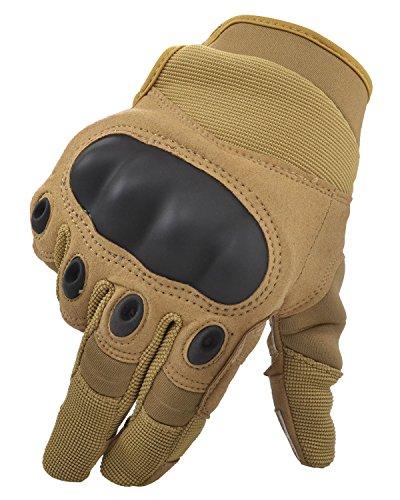 Simplicity Men Women's Cycling Motorcycle Gloves Mittens, Show Finger Khaki L