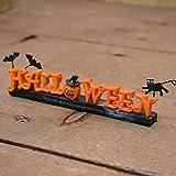 ハロウィン HALLOWEENロゴスタンド メッセージオブジェ 置物 コウモリ 黒ねこ ハロウィンパーティー ハロウィン雑貨 かぼちゃ パンプキン オーナメント ディスプレイ