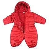 Jacky unisexo buzo de bebé, Outdoor, rojo cereza,74 (9 meses), 382487