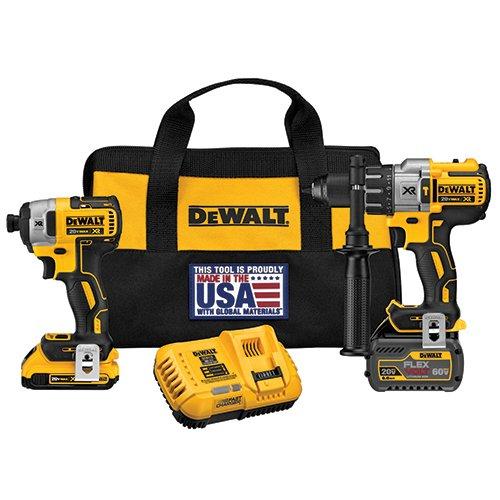 Find Cheap DEWALT DCK299D1T1 20V MAX FLEXVOLT Brushless Premium Hammer Drill and Impact Combo Kit