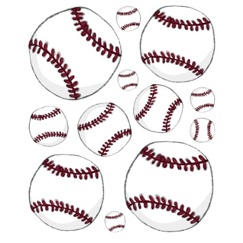 Instant Murals Baseball Wall Transfer Stickers - Sports Balls