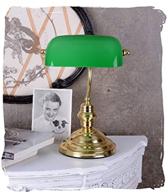 bankers lamp schreibtischlampe banker lampe banker leuchte pultleuchte echter klassiker im. Black Bedroom Furniture Sets. Home Design Ideas