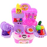 Segolike Kids Developmental Toys Simulation DIY Kitchen Cookware Pretend Play Set Toy - Pink, #1