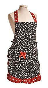 Spicy Aprons Spicy Red Black Apron by Spicy Aprons Inc.