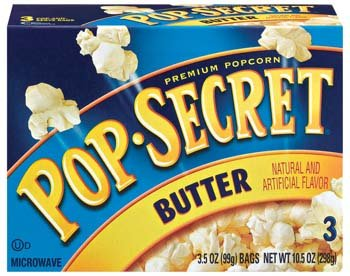 Pop Secret Butter 3 Pk Microwave Popcorn 9.6Oz