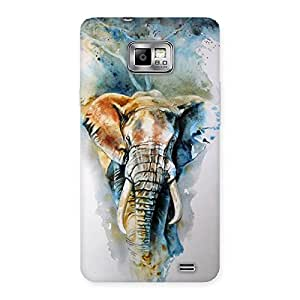 Impressive Elephant Art Back Case Cover for Galaxy S2