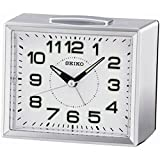 Seiko QHK039S Bedside Alarm Clock, Silver