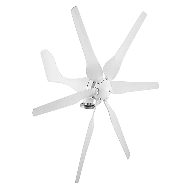 Happybuy Wind Turbine Generator 300W DC 24V 6 Blades Light and Powerful for Home Use (Color: 300W, Tamaño: 300W)
