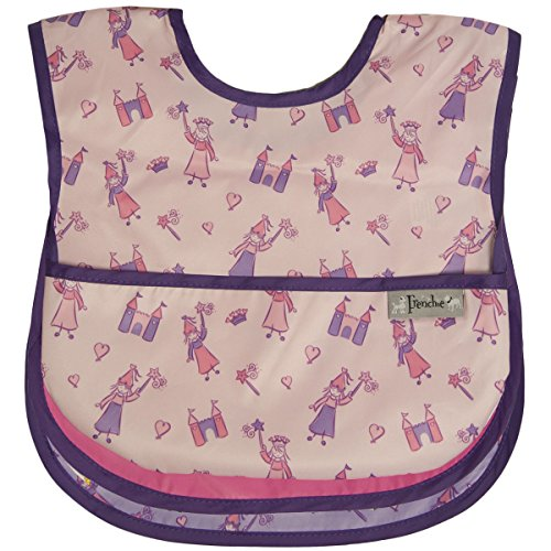Waterproof Feeder Bib w/Flip Pocket, 3 Pack, Girl, Frenchie Mini Couture