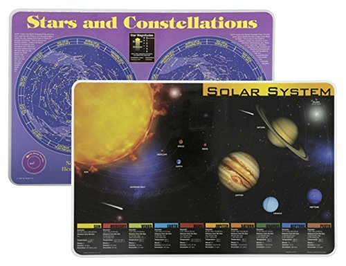 Painless Learning 2 Wipe Off Placemats Bundle- Solar System Placemat and Constellations Placemat (Space Placemat compare prices)