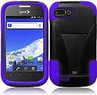 For ZTE Valet Z665C Fury Director N850 Cover Case (T-Stand Black/Dark Purple)