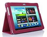 SupCase Slim Fit Folio Leather Tablet Case Cover for Samsung Galaxy Note 10.1-Inch N8000, Deep Pink (S8000-62A-DP)