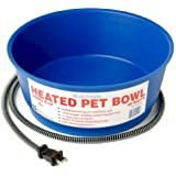 Farm Innovators Economical 1-1/2-Gallon Round Heated Pet Bowl, Blue Model R-19, 60-Watt