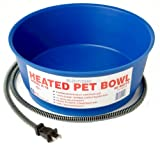 Farm Innovators Model R-19 Economical 1-1/2-Gallon Round Heated Pet Bowl, Blue, 60-Watt