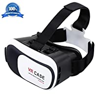 Atill 3D VR Headset Virtual Reality Glasses Movie Game For iPhone, Android Smartphones within 3.5-6 inches from Atill