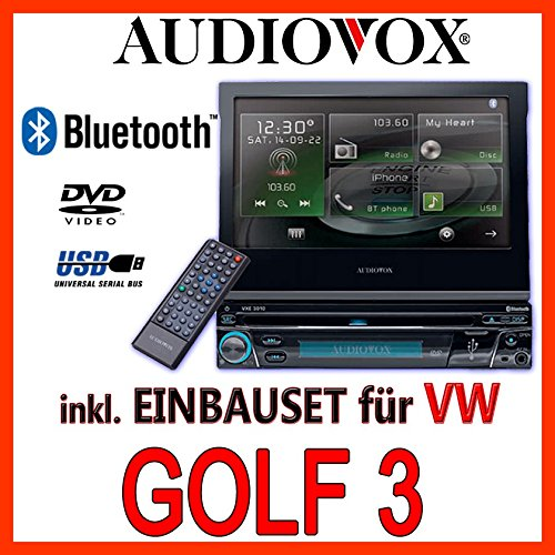 VW golf 3/vento-multimédia audiovox vxe 3010-1DIN kit de montage d'autoradio