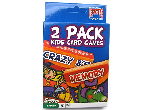 Bicycle 1023757 Classic Kids Card Games Assorted Games 2 Pack - 1