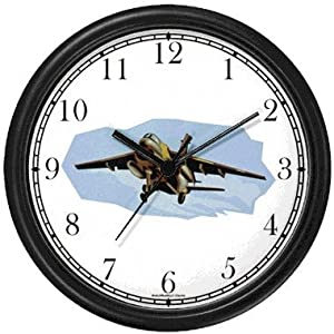 A-7 Corsair II Wall Clock by WatchBuddy Timepieces (Black Frame)