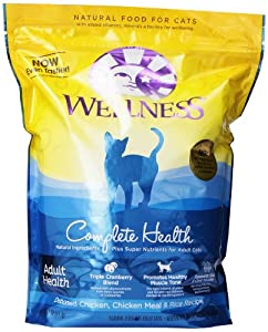 Wellness Complete Health Dry Cat Food, Deboned Chicken/Chicken Meal/Rice Recipe, 5-Pound and 14-Ounce Bag