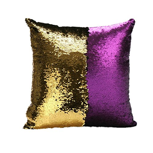 livedeal-two-color-paillette-reversible-sequins-mermaid-pillow-cases-16-x-16-purple-and-gold