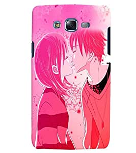 Fuson Love Couple Back Case Cover for SAMSUNG GALAXY J7 - D3990