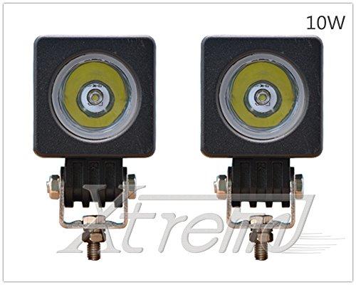 "Xtreme® 2 Pack 2"" Inch 10Watt Cree High Power Led Work Lamp Offroad Light For Truck, 4Wd, Atv, Utv, Bike, Motorcycle (10W Cube, Spot Light)"