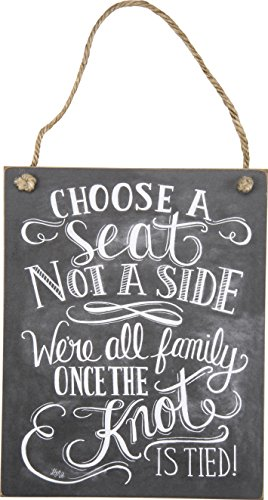 Primitives by Kathy Choose A Seat Not A Side Chalk Sign (Pick A Side Sign compare prices)